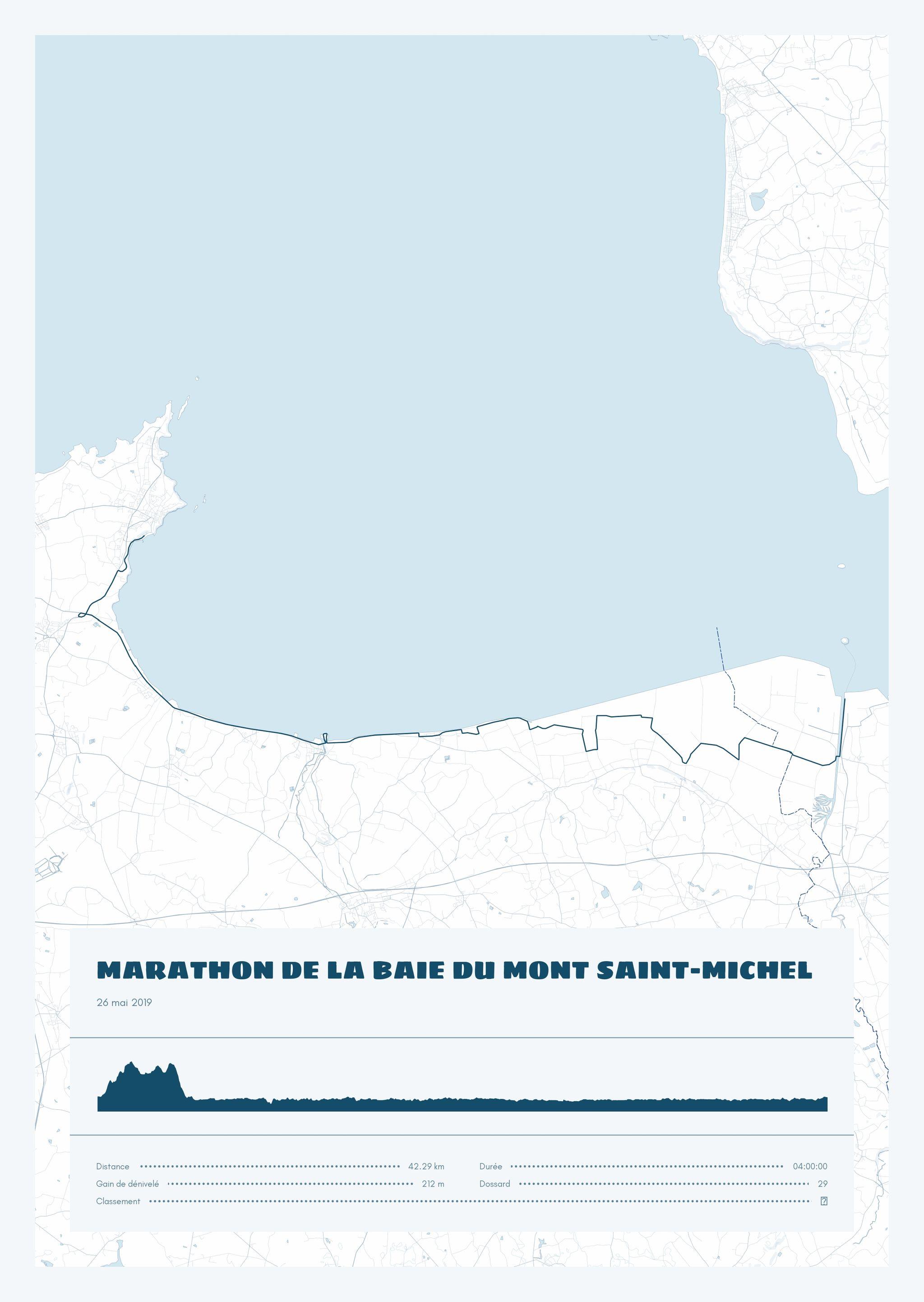poster-Marathon de la Baie du Mont Saint-Michel