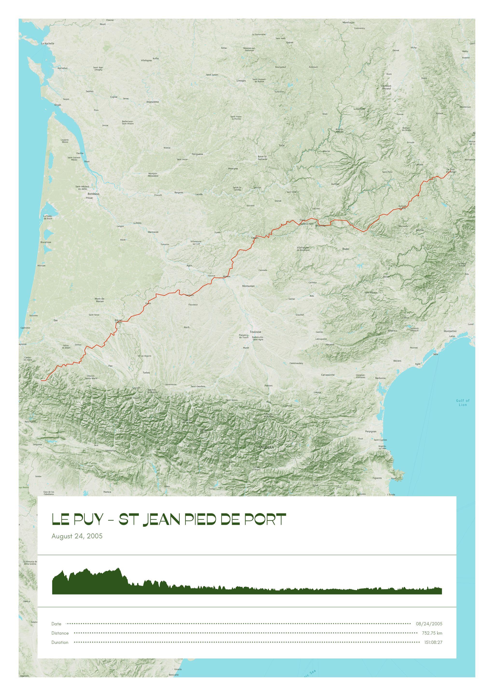 poster-Le Puy - St Jean Pied de Port