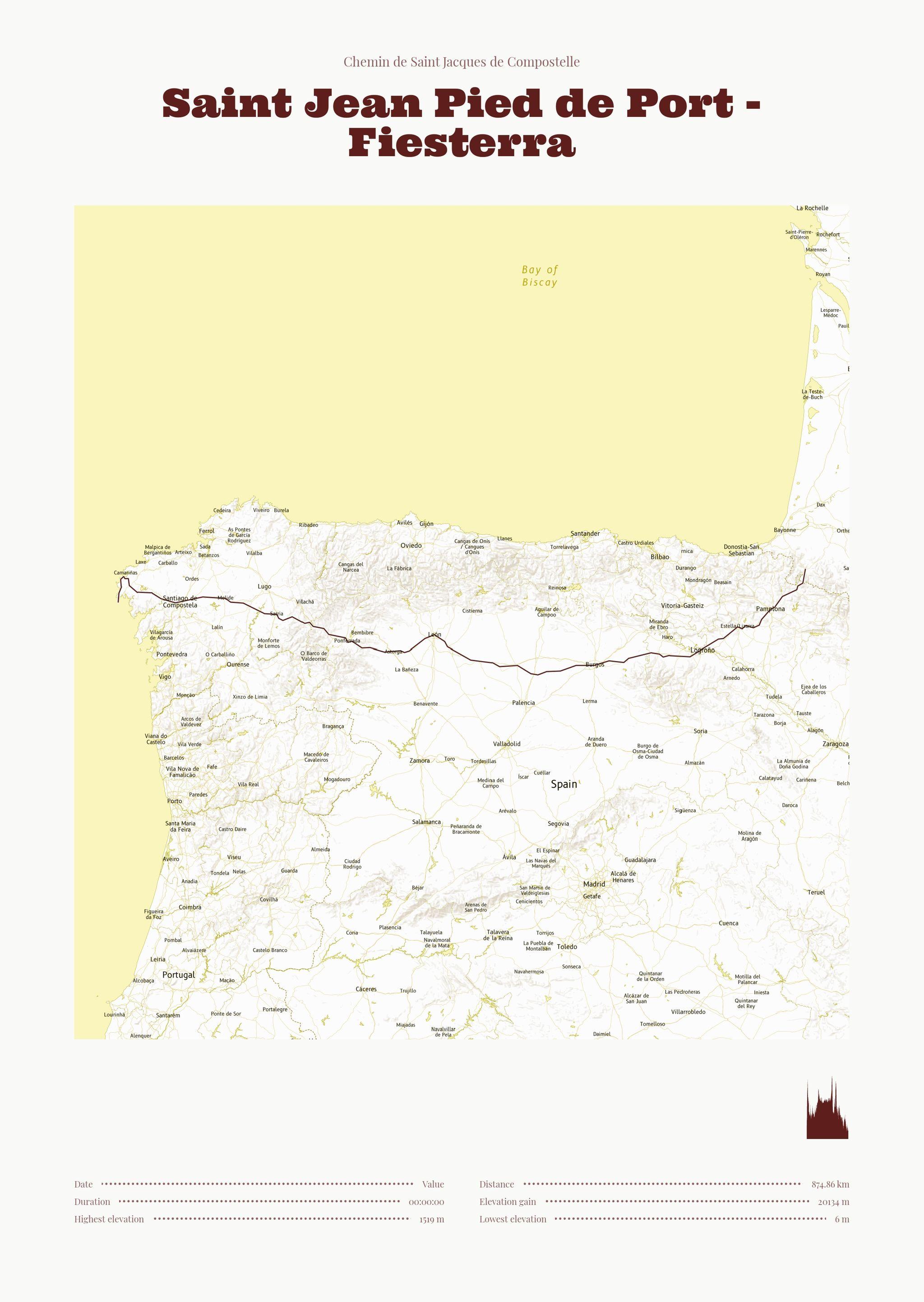 poster-Saint Jean Pied de Port - Fiesterra